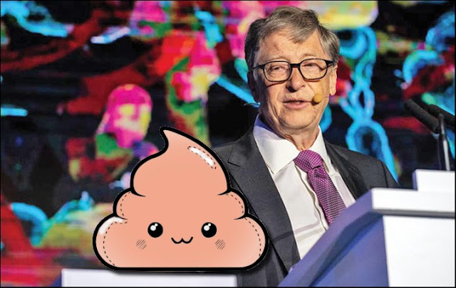 Bill Gates exibe pote de merda em evento