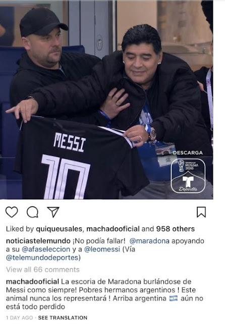 Alicia machado contra Maradona