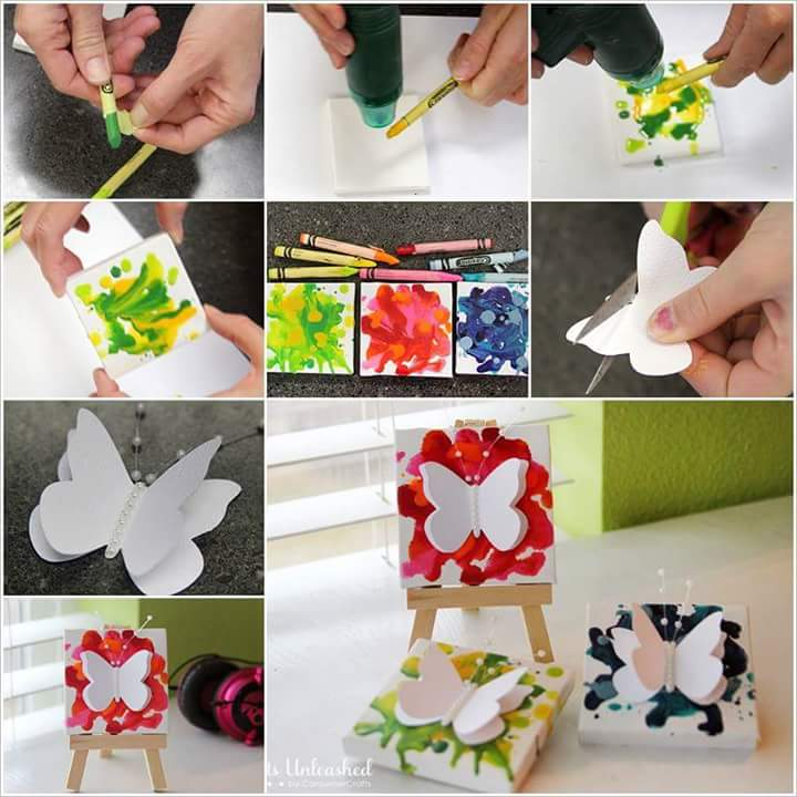 50 creative butterflies ideas in diffrent style crazzy for Handmade things step by step