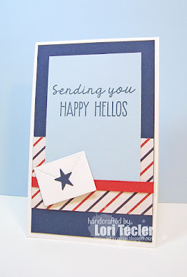 Happy Hellos card-designed by Lori Tecler/Inking Aloud-stamps and dies from Lil' Inker Designs