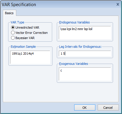 Research Tips: Structural VAR using Eviews
