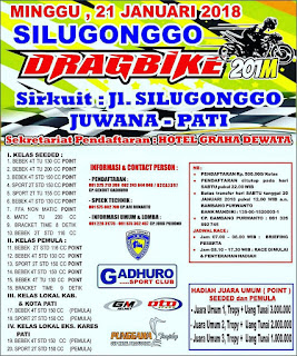 SILUGONGGO GADHURO DRAGBIKE 201M 21 JANUARI 2018