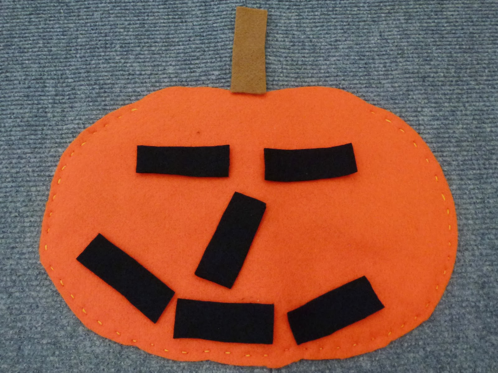 Choices For Children Felt Jack O Lantern With Shapes