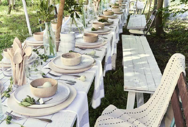 accessori tavola estate di legno