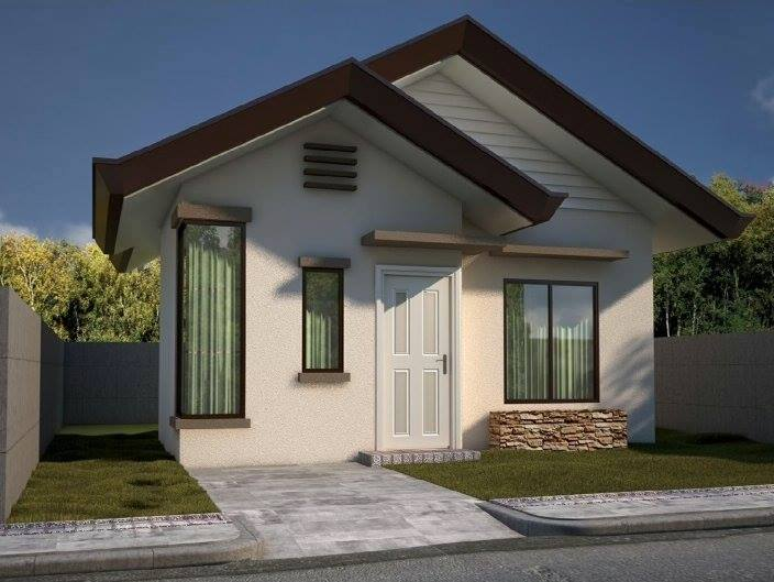 Beautiful small house design with 2 bedroom and 1 bathroom for Pretty small houses