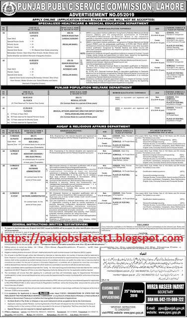 Latest Pakistan Government PPSC Jobs For Senior Registrar Medical Officer, And Others 110+ Vacancies