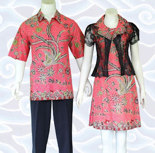 model baju batik couple anak muda modis