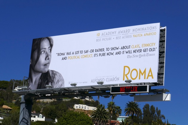 Yalitza Aparicio Best Actress Oscar nominee Roma billboard
