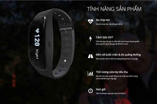 tính năng của vòng đeo tay mTim