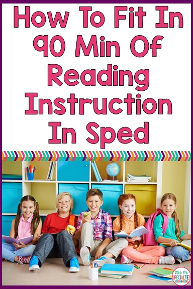 Does your district have a policy or recommendation for how many minutes of reading instruction you need to do a day? Many people ask me how to get in 60 to 90 minutes of reading instruction a day when we have SO. MUCH. TO. COVER!!