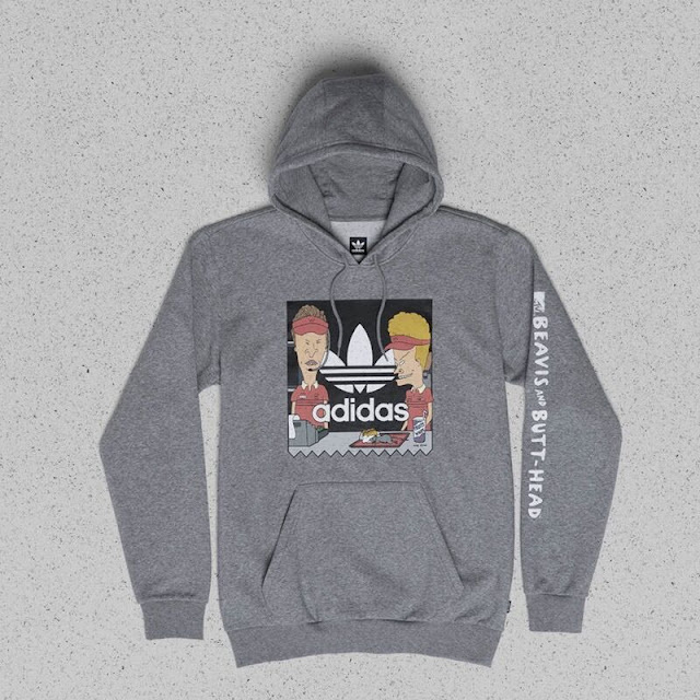adidas Beavis and Butthead collaboration hoodie