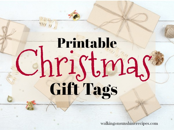 Printable Christmas Gift Tags FEATURED photo from Walking on Sunshine Recipes