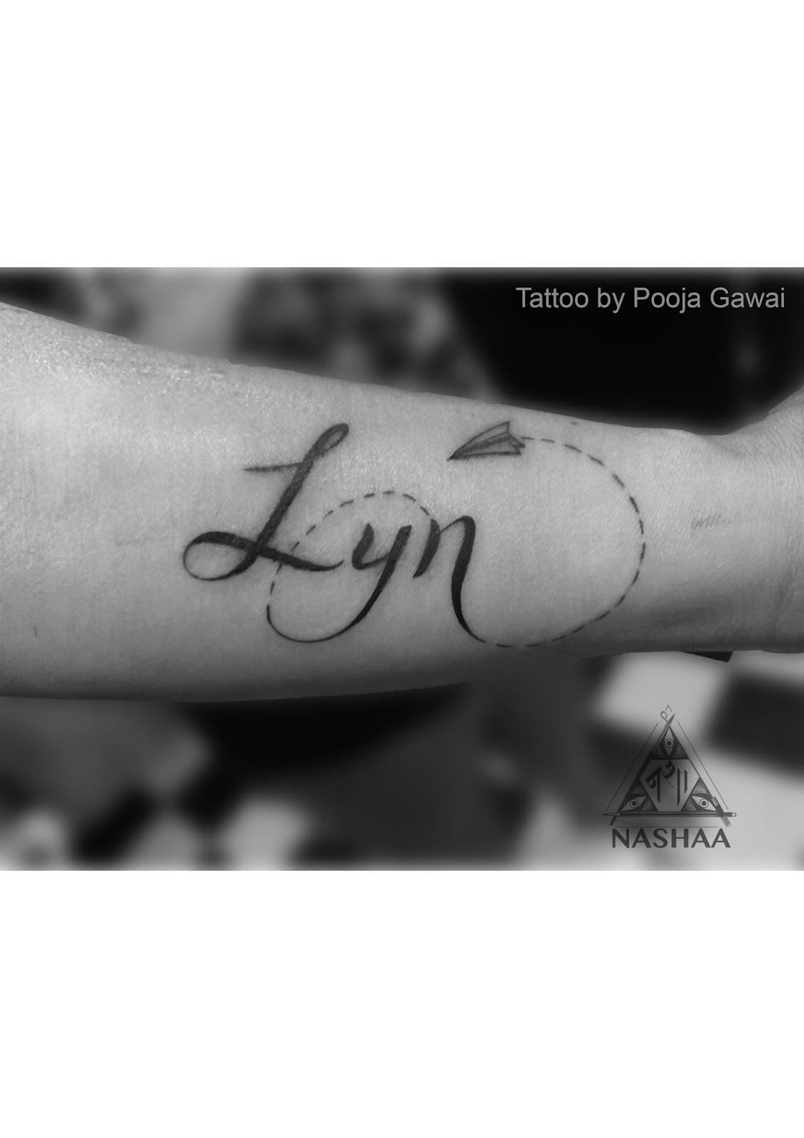 Tattoos In Mumbai Small Name Tattoo Done By Pooja Gawai Nashaa