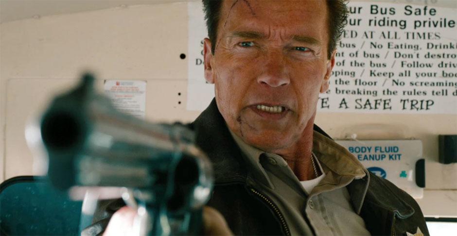 Arnie en un fotograma de The Last Stand
