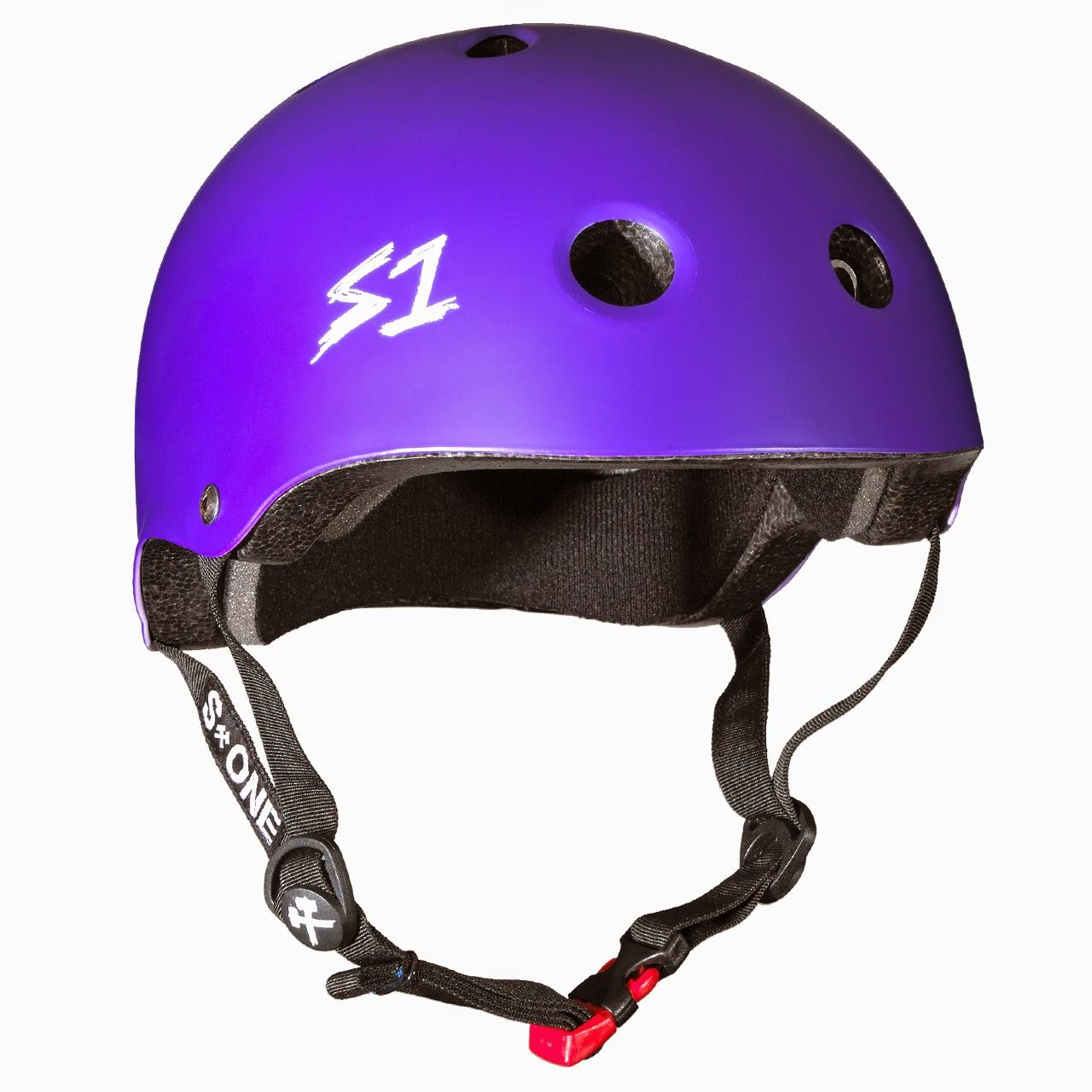 helmet s1 purple skate helmets mini lifer matte kid gear 3ride bmx womens required tweet heads