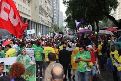 Terça-feira de protestos no Rio de Janeiro