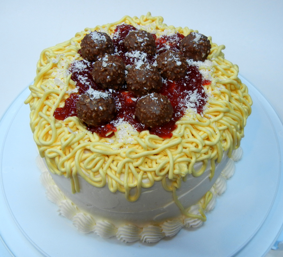 Meatball Birthday Cake