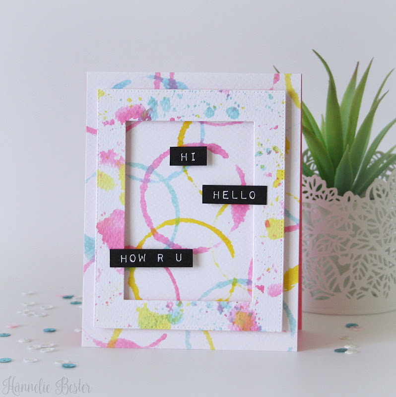 Altenew watercolor frames and label love stamp sets