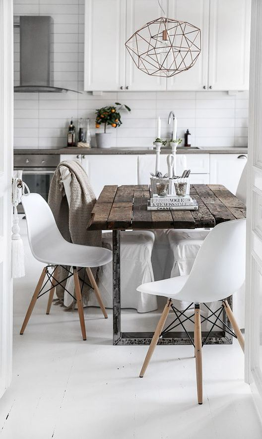 white kitchen decoration idea