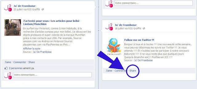 © Ju2Framboise - Comment récupérer ses liens de partage Facebook