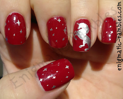raspberry-barry-m-unicorn-stamped-nails-nail-art