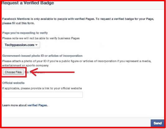 how to get facebook verified badge