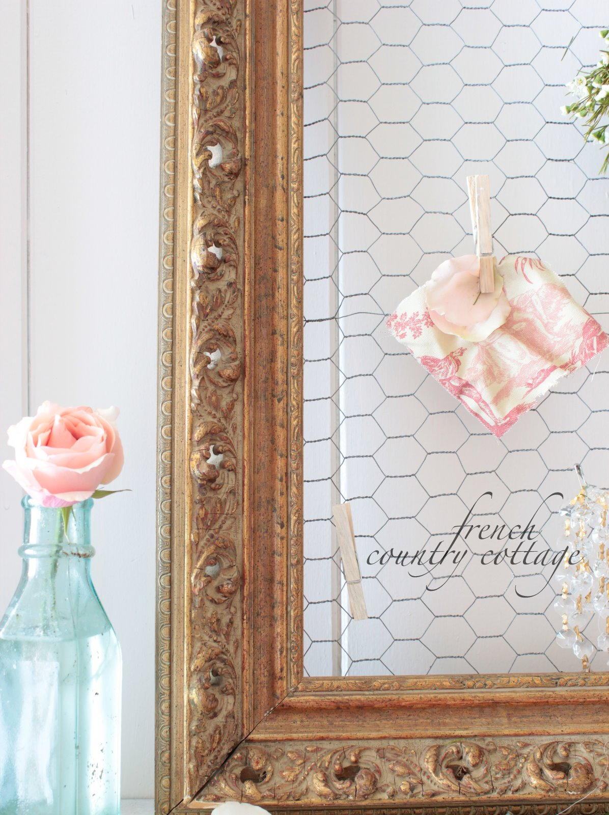 Chicken Wire Dream Board French Country Cottage