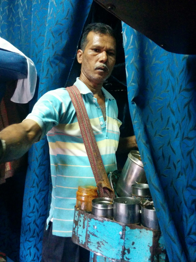 Jhaal muri vendor inside Vivek Express train