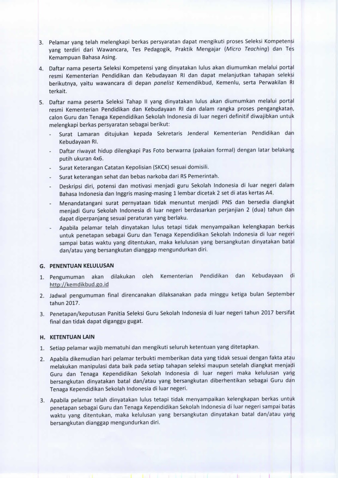 Pendaftaran Seleksi Gtk Non Pns Siln Sekolah Indonesia Luar Negeri 2017 Mkks Sma Smk