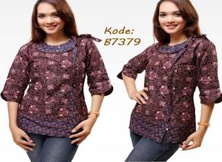 Gambar Model Baju Batik Kerja Wanita Modern
