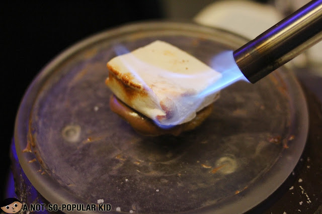 Torching of marshmallow on top of a cookie - St. Hale