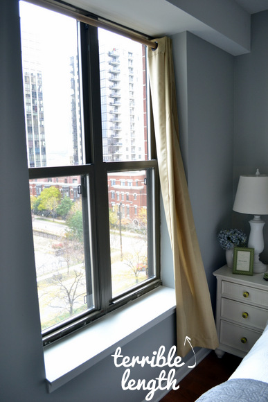 Window Treatments for a One Bedroom: Work on the curtain length | DIY Playbook