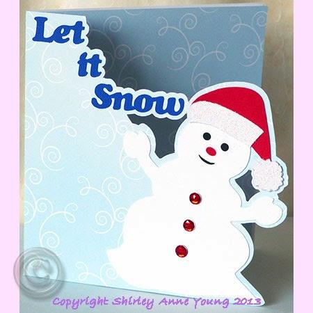 shirley s cards snowman card