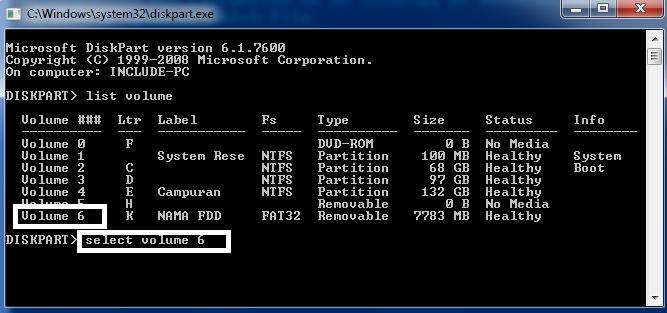 Tips Mudah Format Flashdisk Lewat CMD (Command Prompt)