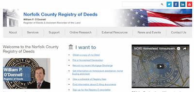 Norfolk Deeds webpage