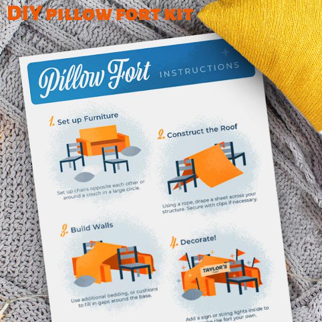 DIY pillow fort kit
