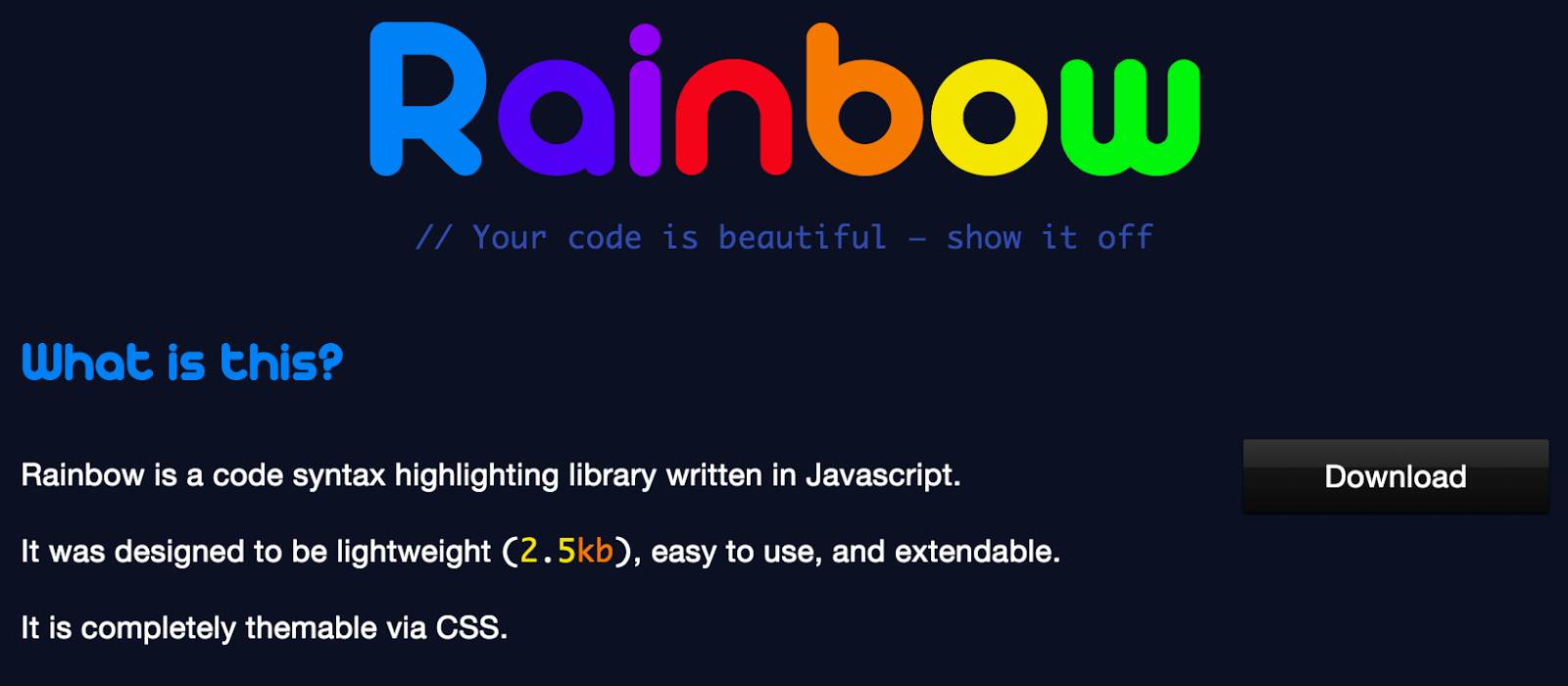 Rainbow syntax Highlight plugin