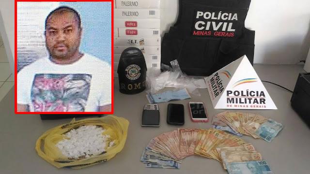 Operação conjunta entre as Polícias e a Guarda Municipal de Andradas (MG) resulta na prisão de traficante