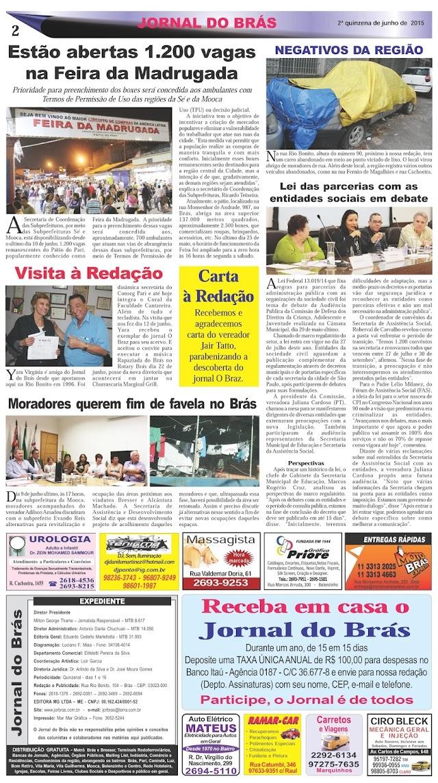 Destaques da Ed. 274 - Jornal do Brás