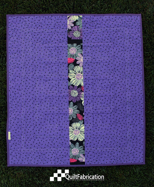 Shadow Block Mini quilt back