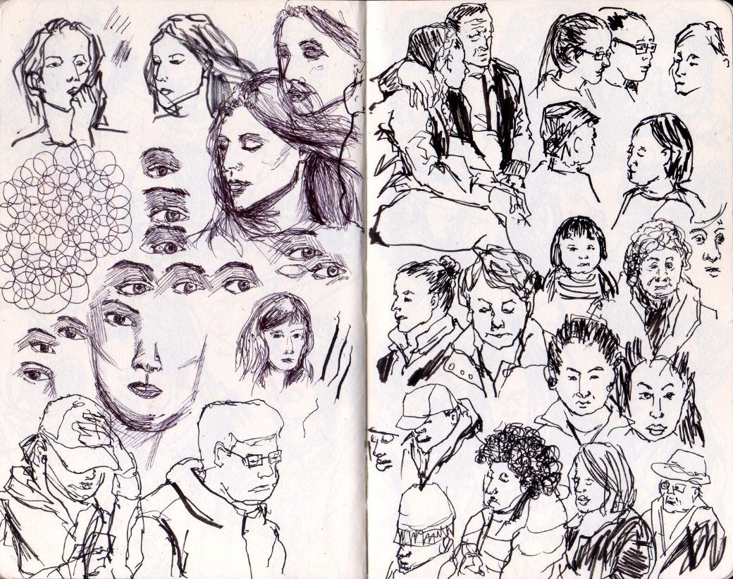 portrait sketches april 2017