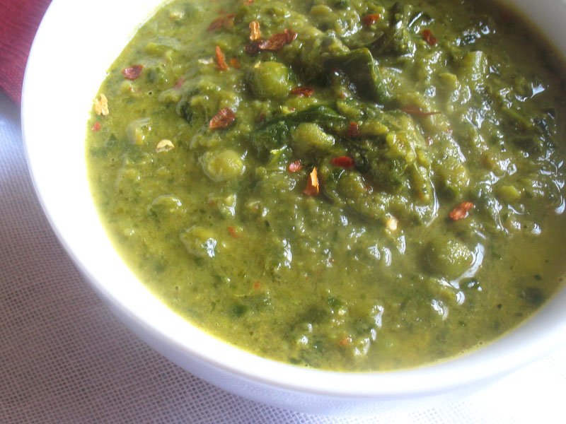 Creamy Green Pea and Collard Greens Soup | Lisa's Kitchen ...