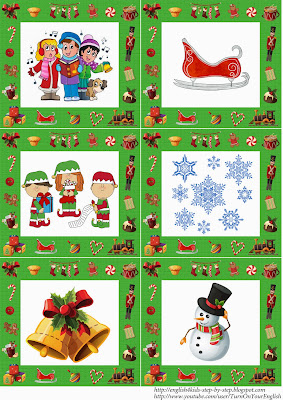 elt christmas flashcards