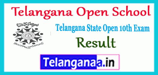 TOSS Telangana Open School 10th Class Result