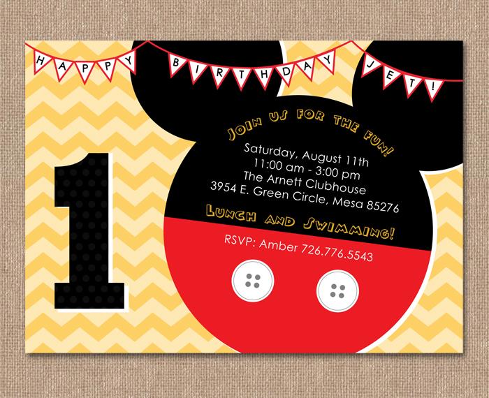 kimberly j design minnie mouse birthday party invitation