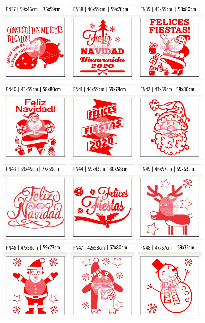 Vinilo para vidrieras, vidrieras navideñas, vinilos navidad, Año Nuevo 2020, carteles, negocios, ploteos, vinilos locales