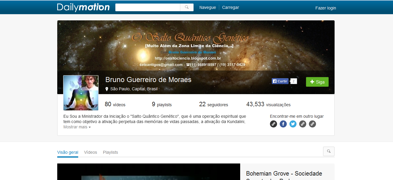 Nosso Canal no Dailymotion - Visitem o Site - Alternativa ao
