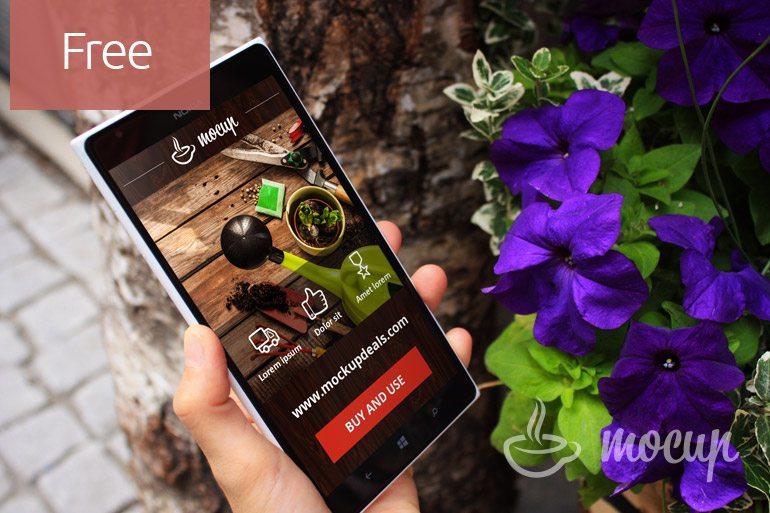 Smartphone Garden Mockup