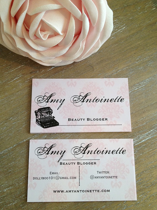 Beauty Blogger Business Cards - Amy Antoinette