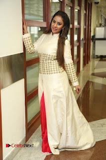 Telugu Actress Sri Reddy Mallidi Stills in White Beautiful Dress at Marriage Needs Bridal Fashion Week 2017 Logo Launch  0036.JPG